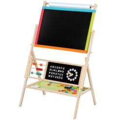 לוח פרוייקטים לילדים 5 ב 1 לוח מחיק, לוח ציור, לוח מגנטים, חשבוניה ולימודי אותיות