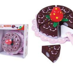 עוגת שוקולד מעץ מלא עם תות מהממת לילדים עבור מטבח לילדים