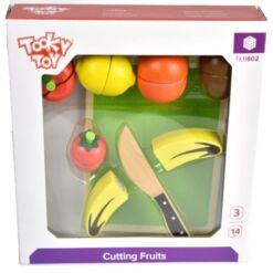 ערכת חיתוך פירות מעץ למטבח