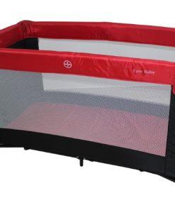 """לול לתינוק מתקפל לקמפינג וטיולים כולל מזרן גב קשיח, תיק נשיאה מידה פנימית 120/60 ס""""מ, צבע אדום"""
