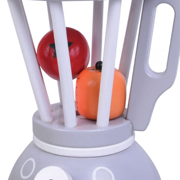 צעצוע מעץ, מעבד מזון מעץ בלנדר כולל פירות