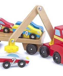 מליסה ודאג -משאית גרר מגנטית מעץ איכותי
