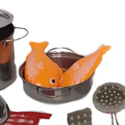 סט כלי מטבח נירוסטה צעצוע לילדים