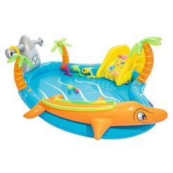 מתנפחים, בריכת מים מתנפחת לילדים, בעיצוב של אי הדגים