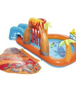 מתנפחים, בריכת מים מתנפחת לילדים, בעיצוב של אי ההרפתקאות