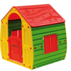 STARPALY בית משחקים קסום Starplay שילוב צבעי יסוד /אדום/ירוק/צהוב