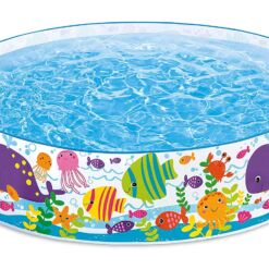 """בריכה לילדים,דגם אינטקס 56452 עם דופן קשיחה בעיצוב דגי ים, קוטר 183X37 ס""""מ"""