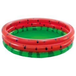 בריכת פעילות מתנפחת לפעוטות, בעיצוב אבטיח בשני צבעים דגם אינטקס 58488 קוטר 168ס