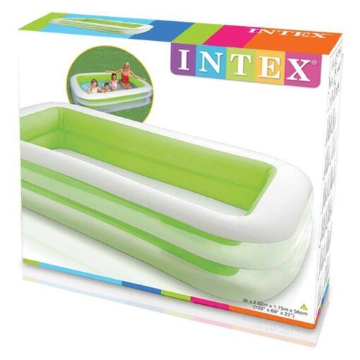 בריכה מתנפחת מלבנית לילדים, דגם אינטקס 56483 מידות 2.62X1.75 גובה 56