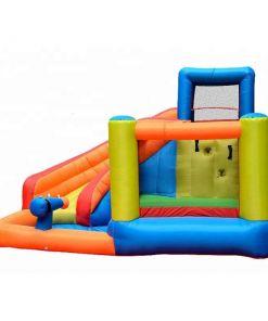 מתנפחים - מתקן שעשועים ופארק מים מתנפח לילדים, עם טרמפולינה וקיר טיפוס, בריכה, מגלשת ותותח מים