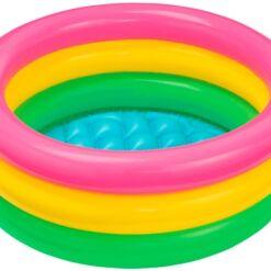 """בריכת פעילות מתנפחת לפעוטות, בעיצוב של גלידה בשלושה צבעים דגם אינטקס 57107 קוטר 61ס""""מ"""