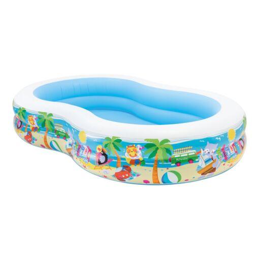 בריכה מתנפחת בעיצוב הוואי לכל המשפחה, דגם אינטקס 56490 מידות 262X160X46