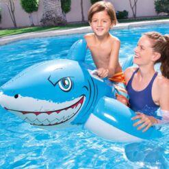מתנפחים לבריכה, בובת כריש מתנפחת לבריכה עם ידיות אחיזה