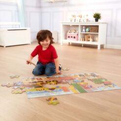 מליסה ודאג - פאזל רצפה ענק לילדים הבנאי הקטן