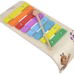 קסילופון צבעוני כלי הקשה עשוי עץ, כולל מקלות הקשה מעץ מלא.