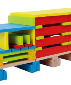 דלי קפלות צבעוני, הכולל 200 חלקים, לפיתוח דמיון וחשיבה יצירתית.