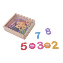 מארז מגנטים מספרים, הכולל 45 חלקים צבעוניים