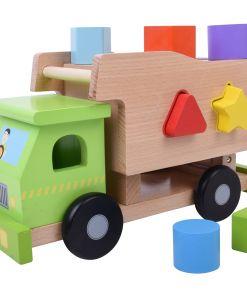 צעצוע עץ, משאית להתאמת צורות