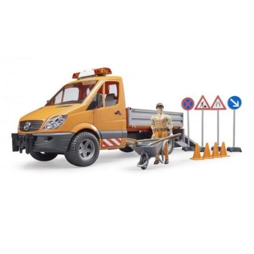 משאית לילדים MB Sprinter עם עובד ואביזרים