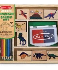 מליסה ודאג - ערכת חותמות עץ דינוזאורים