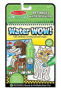 מליסה ודאג - חוברת טוש המים מבוך חיות מחמד
