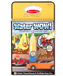 מליסה ודאג - חוברת טוש מים כלי רכב