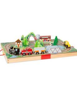 מליסה ודאג - משחק בקופסאת עץ - תחבורה ורכבת מבית מליסה ודאג