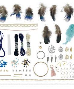 ערכת יצירה לילדים הכנת תכשיטים לוכדי חלומות מבית בוקי צרפת