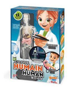 ערכת מדע לילדים גוף אנושי בוקי צרפת