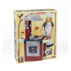 מטבח Miele מדהים בצבעי אדום ולבן לילדים כולל אביזרי מטבח וצלילים