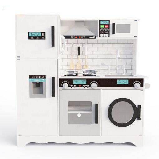 מטבח עץ צעצוע מדהים בצבע אפור לילדים כולל אביזרי מטבח , תאורה בארונות וצלילים בתנור ובקולט אדים (העתק)