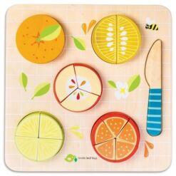 טנדר ליפ Tender Leaf - פאזל לימוד השלם וחלקיו 17 חלקים - פירות הדר