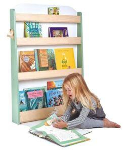 טנדר ליפ Tender Leaf - ספרייה מעוצבת מעץ מלא 4 מדפים חיות היער