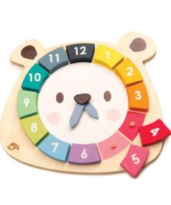 טנדר ליפ Tender Leaf - שעון דוב פאזל צבעוני ללימוד צבעים ומספרים