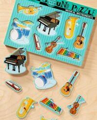 מליסה ודאג - פאזל עץ כלי נגינה מנגנים