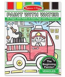 מליסה ודאג - חוברת צביעה עם מים כלי רכב