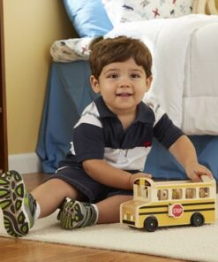 מליסה ודאג - ערכת עץ אוטובוס בית ספר קלאסי מבית מליסה ודאג