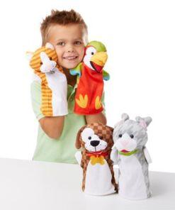 מליסה ודאג - סט בובות יד- חיות מחמד